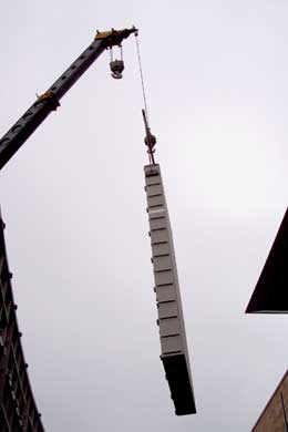 donor recognition installation of crane lifting picture 2