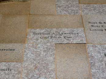 Close-up of Donor recognition Paver at San Luis Ray Perish picture 1